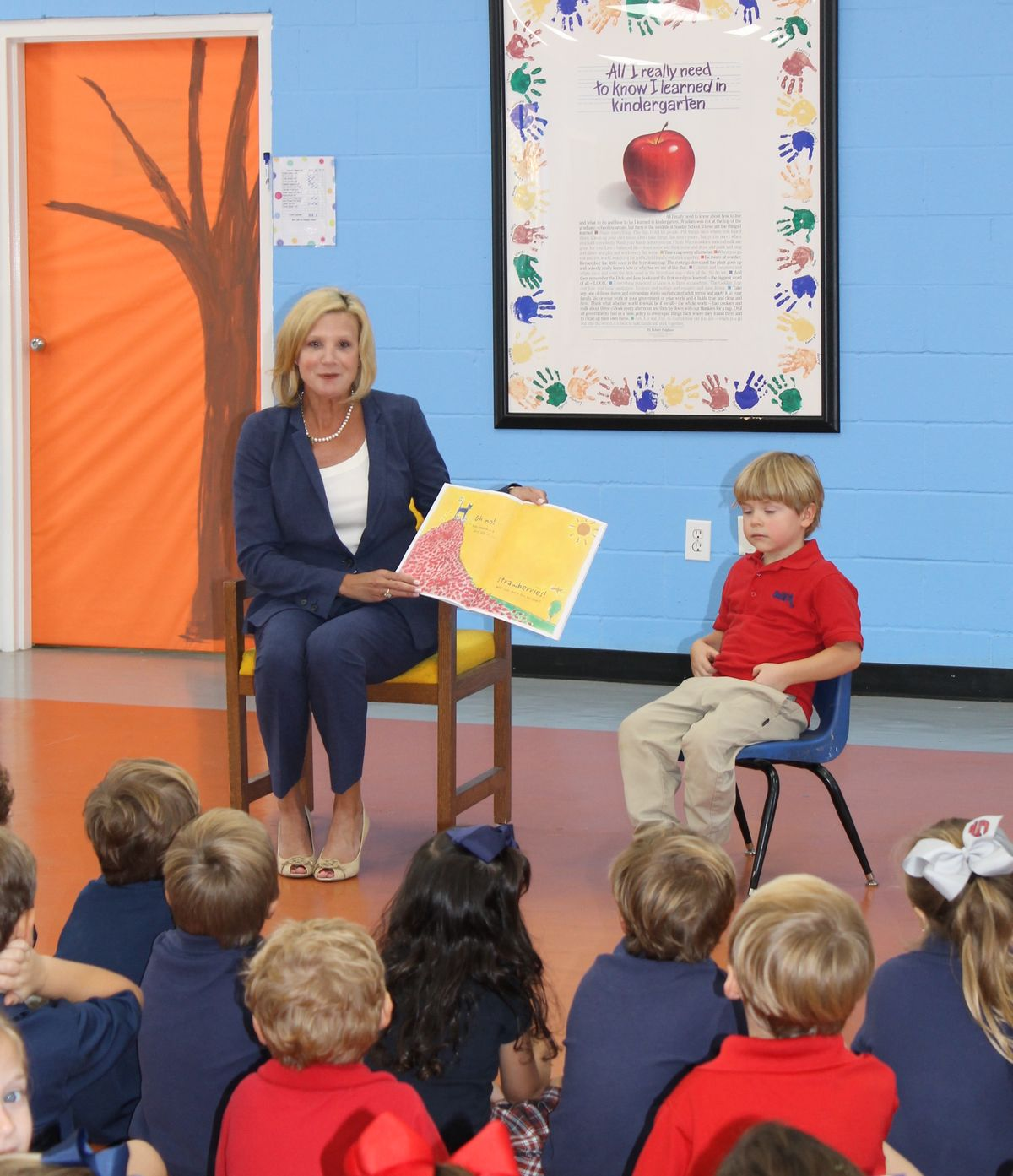 Elee Reeves, Wife of Lt. Governor Tate Reeves read a book to our K4 students
