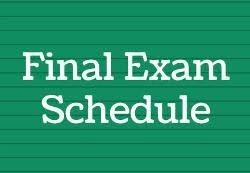 New 6th-11th Exam Schedule