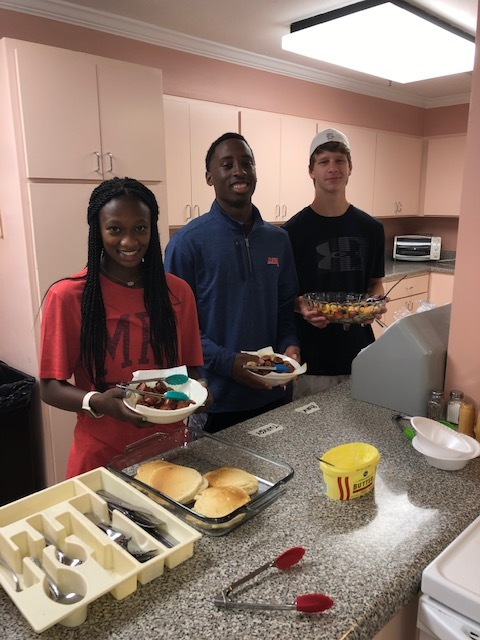 Patriots Volunteer at Ronald McDonald House
